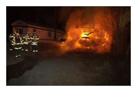 Structure Fire - Arkay Trailer Park Wilton, ME - December 7th, 2012