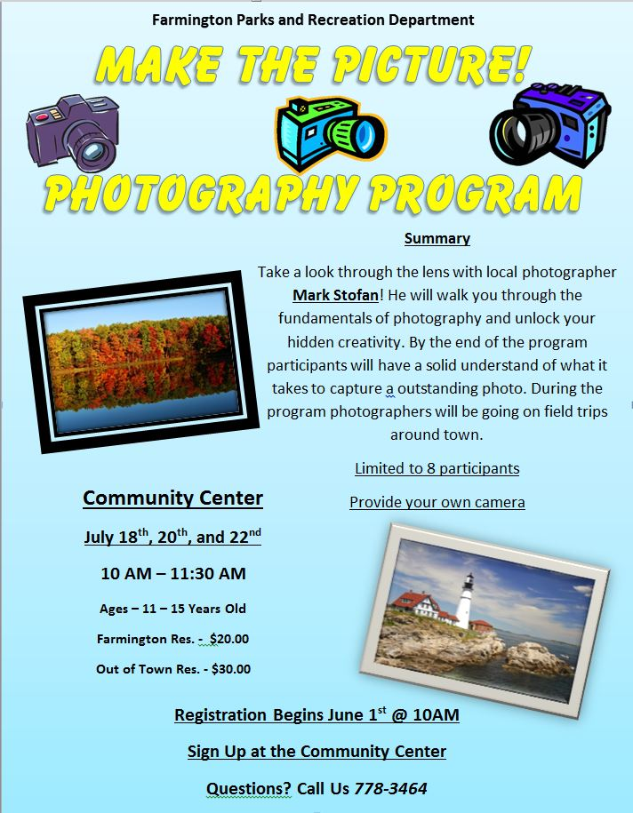 Make the Picture! Photography Program